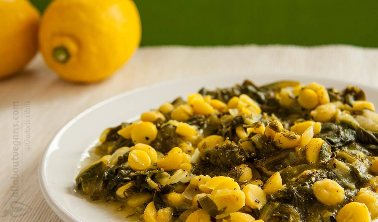 Vegan freckle with chickpeas and spinach