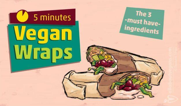 Vegan Wraps σε 5 λεπτά! – Τα 3 υλικά που πρέπει να έχετε :)