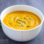 Simple quick and delicious vegan veloute pumpkin soup