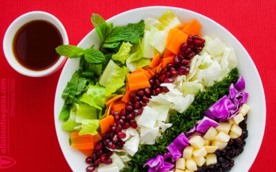 Stunning colorful festive fresh salad for holiday dinners