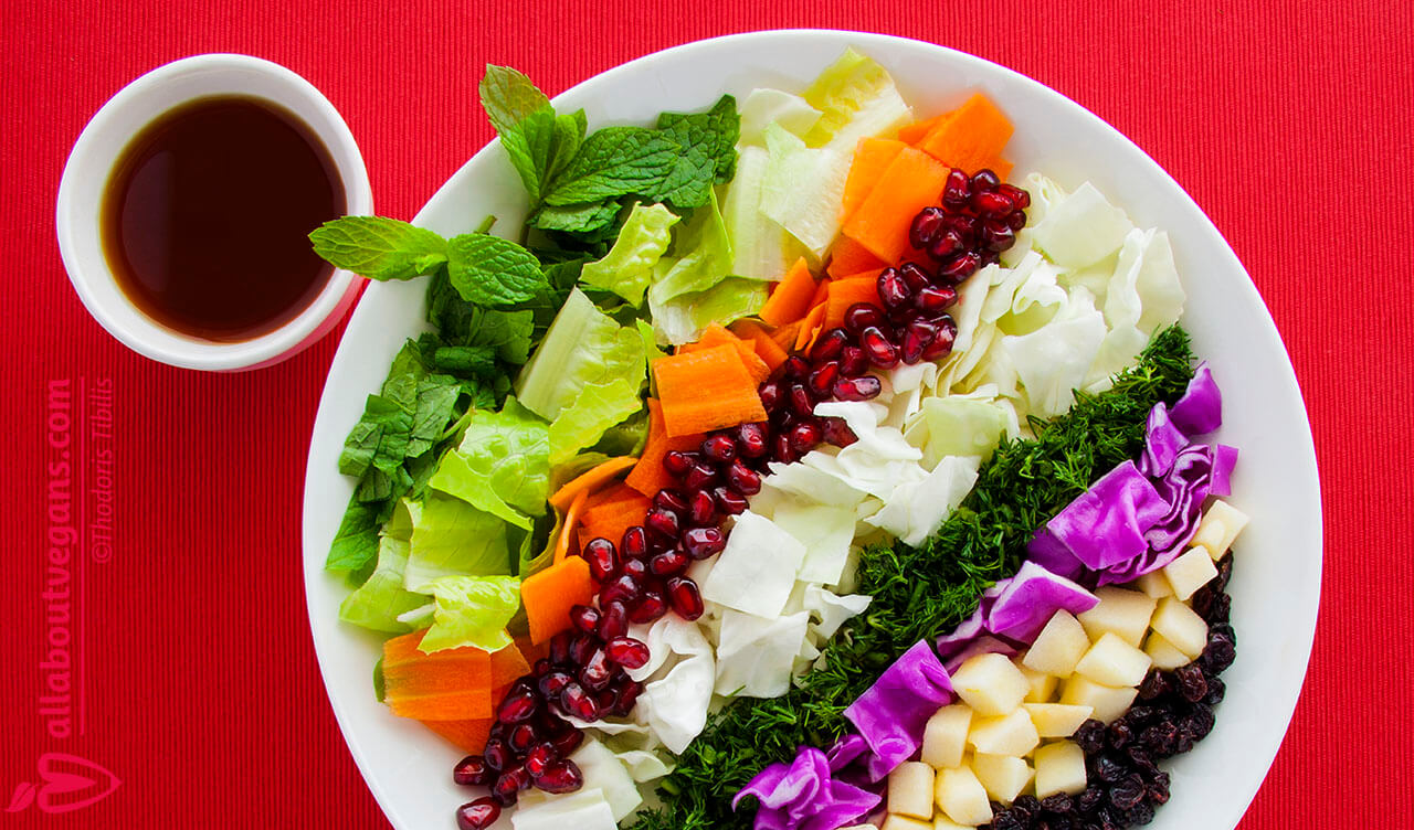 Colorful cool salad for festive tables