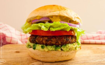 The ultimate Vegan Burger! Yummy, hearty and nutritious!