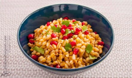 Wheat with pomegranate and fresh coriander