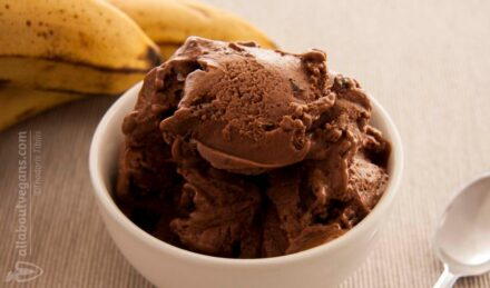Vegan παγωτό σοκολάτα από μπανάνες