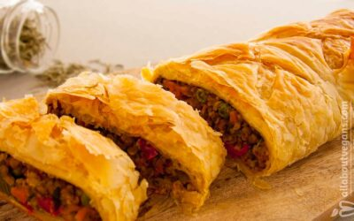 Mouthwatering vegan Wellington (with vegetables, lentils, and nuts)