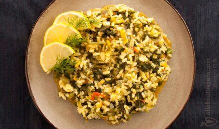 Delicious spinach with leeks & tomatoes - At 35 ′ for only 2 euros!